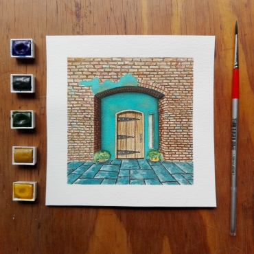 Painted with Royal Talens watercolours, using cold press Arches paper (300 g/m²).